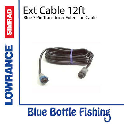 Transducer Extension Cable 12ft Blue 7 Pin for Lowrance / SIMRAD