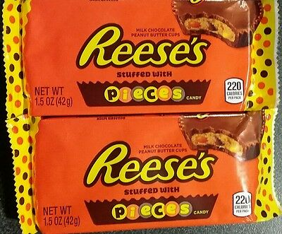 4 x 42g Packets Of Reeses Peanut Butter Cup stuffed with Pieces candy