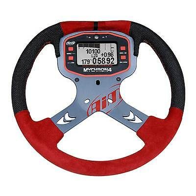 AIM Motorsport Mychron 4 Aluminium Go Kart / Karting Steering Wheel In Red