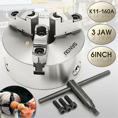 3 Jaw K11-160A Lathe Metal Chuck Self Centering Hardened Drilling Mounting 160mm