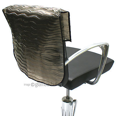 """HAIR TOOLS 20"""" Semi Opaque Waved Slip On Salon Back Chair Cover Protector"""