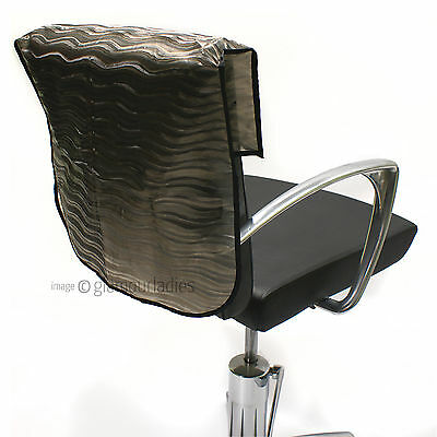 """HAIR TOOLS 22"""" Semi Opaque Waved Slip On Salon Back Chair Cover Protector"""