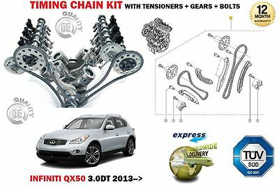 FOR INFINITI QX50 3.0DT 24V 2993cc 2013-> TIMING CHAIN TENSIONER KIT + GEARS