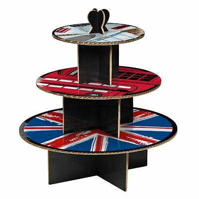 Cool Britannia 3 Tier Cake Stand For Birthday Cardboard Dining Cake Decoration