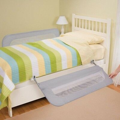 Summer Infant Double Kids Baby Toddler Safety Bed Guard Rail Grey 2pk