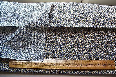 Vtg 40's Cotton  Dress Dolls Quilt Fabric 36w RARE FINELY WAFFLED TEXTURE
