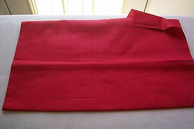 Vtg 100% Cotton Percale Applique Quilt Doll Dress Fabric 36w Apple  RED
