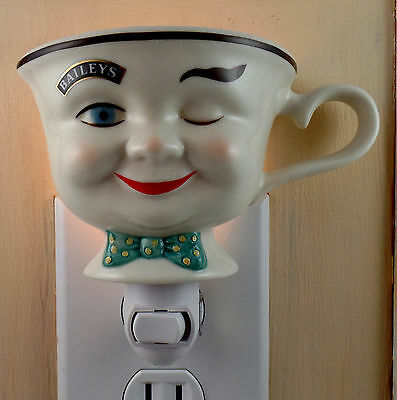 Baileys Winking Man Yum Cup With Polka Dot Bow Tie Custom Made Night Light