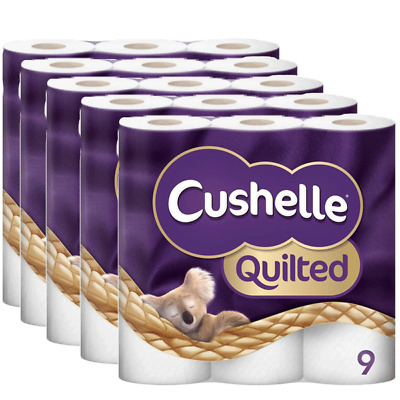 Cushelle 5 x 9 Rolls Quilted Toilet Roll Tissue Paper Multiple Koala Packs 2 Ply