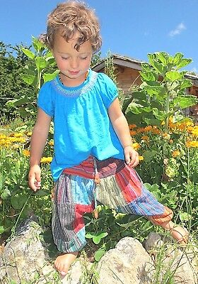 Fairtrade Children's Kids Harem Trousers Girls/Boys Hippie Festival Clothes Baby