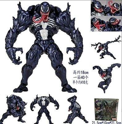 Spiderman/ Figura Venom Revoltech 16 Cm- Action Figure Series 003 With Box 6""