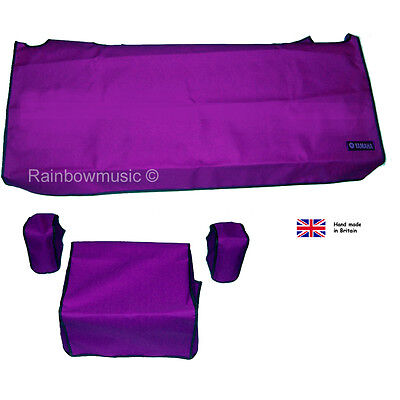 Deluxe Dust Cover Set For Yamaha Tyros 3, 4, 5  ( 61 Key ) Purple