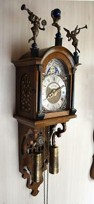 Zaanse Friesian HERMLE Wall Clock with Moonphase and Cuppercarved dial (FR 13)