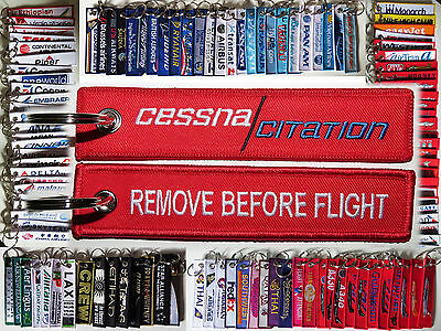 Keyring CESSNA CITATION Jet Remove Before Flight tag keychain pilot