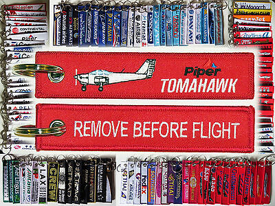 Keyring PIPER TOMAHAWK PA-38 Remove Before Flight keychain for pilot