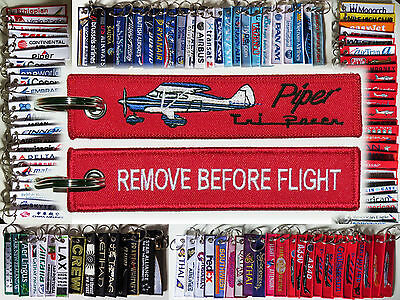 Keyring PIPER TRI PACER PA-22 Remove Before Flight keychain for pilot