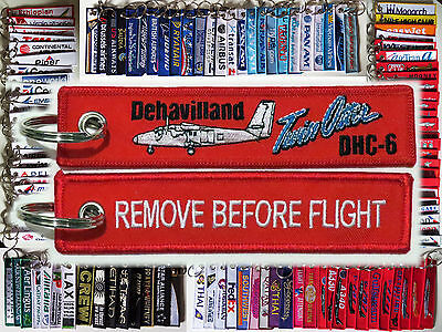 Keyring DeHavilland Canada Twin Otter DHC-6 Remove Before Flight keychain pilot