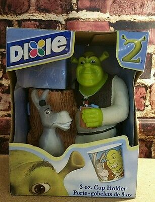 "Shrek 2 Dixie Cup Holder 2004 8"" Donkey Dreamworks Kids Bathroom Fun Ogre"