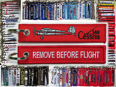 Keyring CESSNA 140 C140 keychain Remove Before Flight pilot