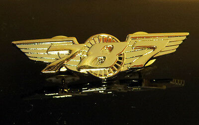 WINGS BOEING 787 DREAMLINER Wing Pin Gold for Pilots Crew 55mm