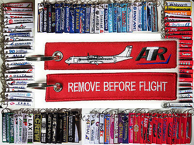 Keyring Aerospatiale ATR Aircraft ATR 42 ATR 72 Remove Before Flight keychain