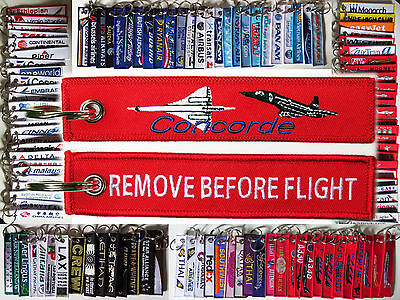 Keyring Aerospatiale BAC Concorde 101 102 Supersonic Travel Remove Before Flight