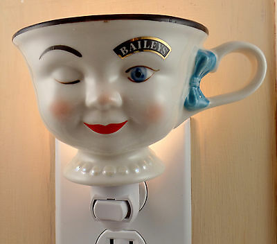 Baileys Winking Woman Yum Cup With Blue Hair Bow Custom Made Night Light