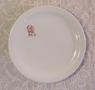 Vintage 1963-1968 Shenango China Restaurant Ware Plate Indian Head PCS No. 76