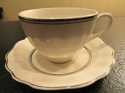 1 SET of J & G MEAKIN CLASSIC WHITE CUP and SAUCER - 6  SETS AVAILABLE