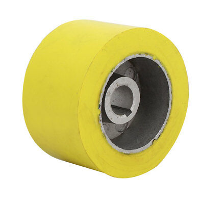 100mm x 20mm x 60mm Silicone Pinch Roller Rolling Wheel Woodworking Yellow