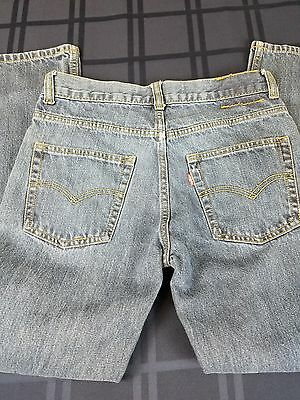 Levis Boys Jeans Straight Size 14 Reg 27x27 (with flaws)