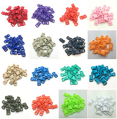 "10 50 100pcs 3/8"" Curved Side Release Plastic Buckle for Paracord Bracelet #CA"