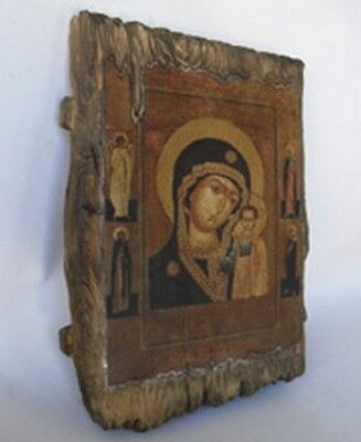 Handmade copy ancient icon ORTHODOX CHURCH Prayer ICON Mother of God Kazan 141S