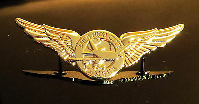 WINGS MILE HIGH CLUB MEMBER Pin Golden Wings for Pilots & Mile Highers :-) 55mm