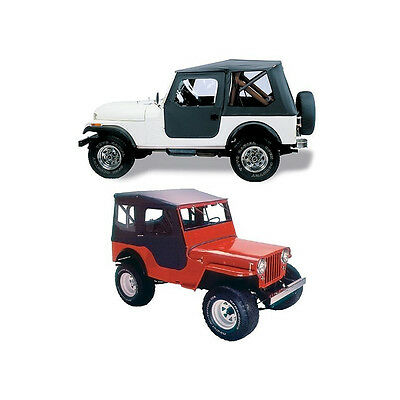 Tigertop Complete Soft Top CJ-2A & MB Willys Jeep Willys MB 1941/1945, Black