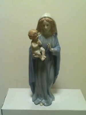 Homco Holy Family Figurine 1464 Baby Jesus and Mary Home Interiors