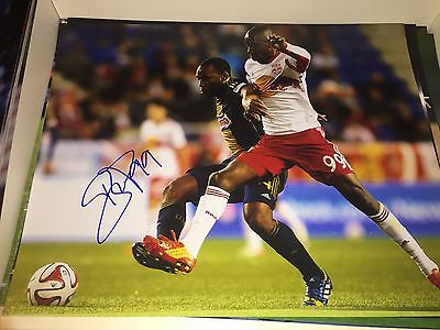 Bradley Wright-Phillips signed autographed 11x14! BWP! NYRB! Red Bulls! MLS!