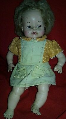 Vintage  Horsman Doll Baby 1968 Crying Talking RARE