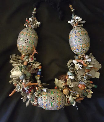Large, heavy and rare necklace of southern Morocco TIZNIT region composed of var