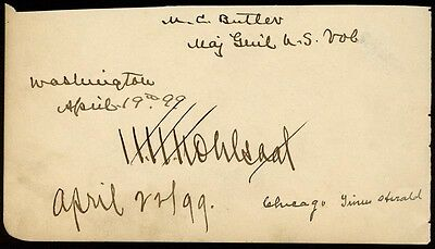 Matthew C. Butler - Signature(S) 04/19/1899 With Co-Signers