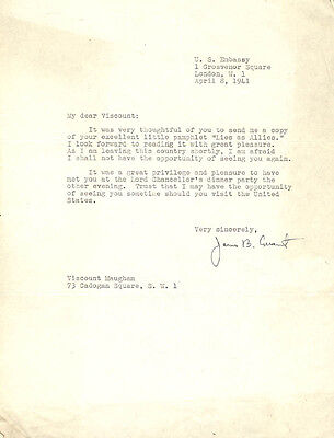 James Bryant Conant - Typed Letter Signed 04/08/1941