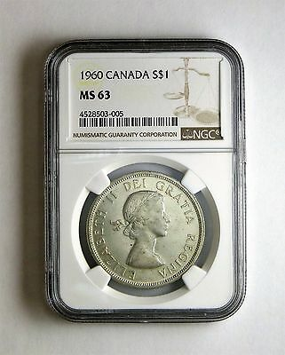 1960 S$1 Canada Silver Dollar NGC MS 63 Business Strike