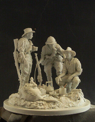 """AC Models 1/24 WWI ANZAC's """"Boiling the Billy"""" (3 Figures+Dog+Accessories+Base)"""