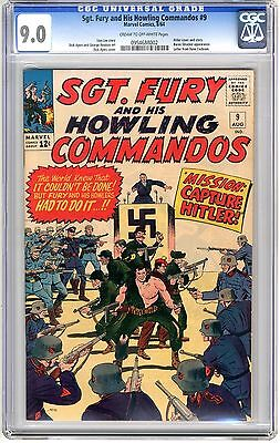 Sgt. Fury  #9  CGC   9.0  VFNM  cream to off - wht pgs  8/64 D. Ayers Cvr & Art