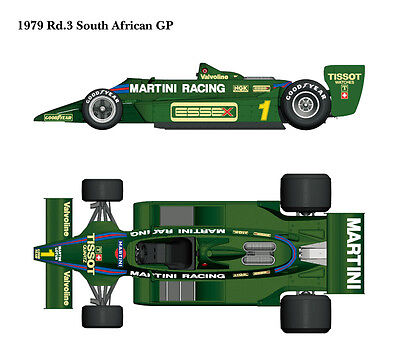 Model Factory Hiro 1/12 Team Lotus 79 1979 Ver.B - South African Grand Prix (GP)