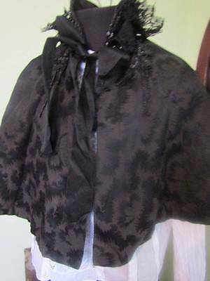 Victorian Cape with Jet Bead Detail Goth/Steam Punk