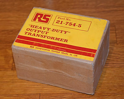 Rs Heavy Duty Output Transformer Unused In Original Packaging