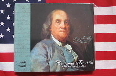 1706 - 2006  BENJAMIN FRANKLIN COIN & CHRONICLES SET, PERFECT, Sealed - Unopened