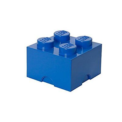 Lego Storage Brick Lunch Box 4, Plastica, Blu, 12.3x12.3x18.3 cm