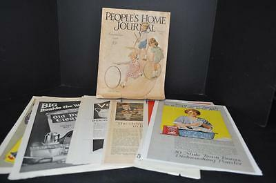 1928 People's Home Journal and 9 single sheets of Advertising